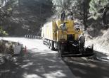 Microsurfacing work in Koshi Khoot Motor Road in Almora